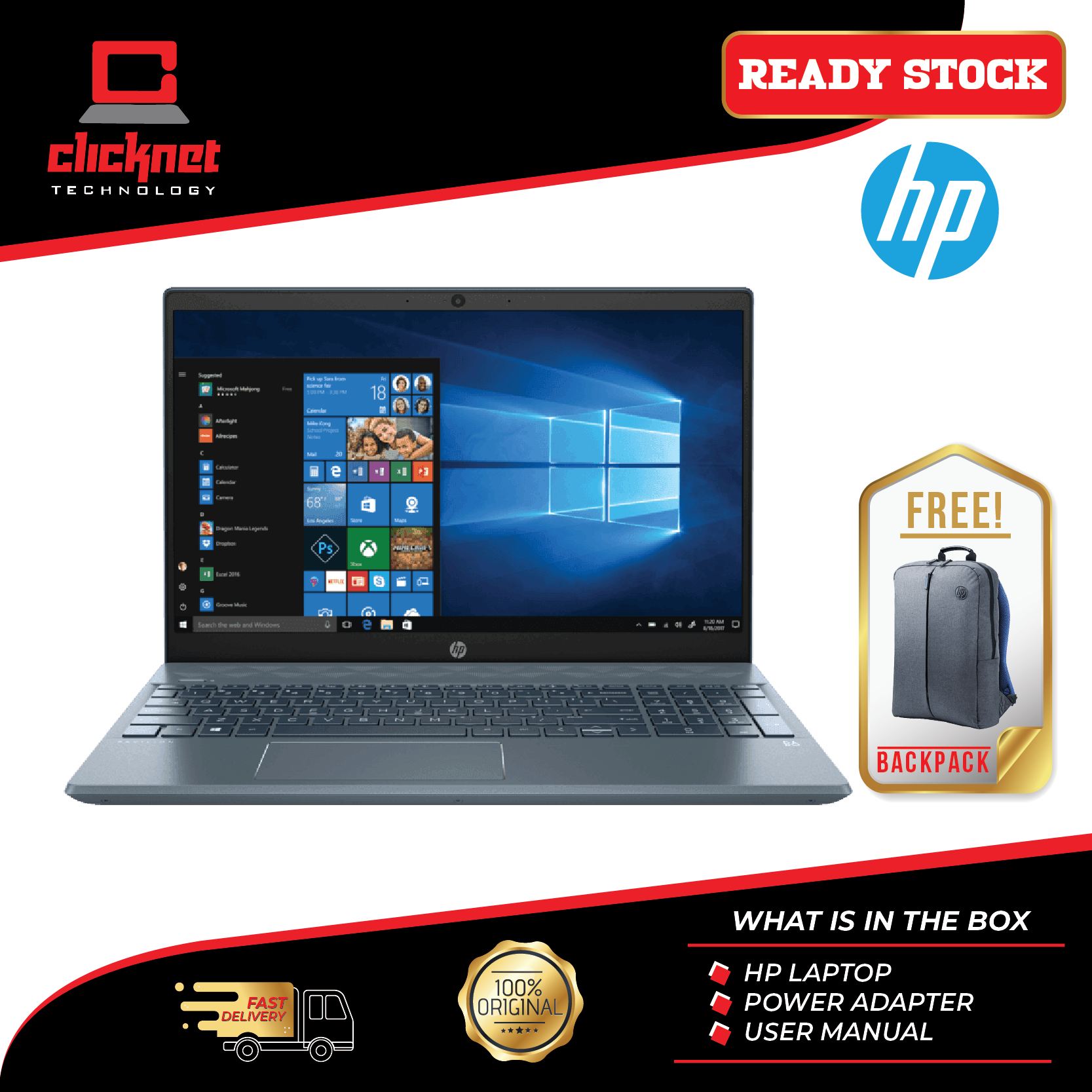 HP Pavilion 15-Cs3068TX 15.6  FHD IPS Laptop Fog Blue (i5-1035G1 4GB 512GB MX250 2GB 15.6FHD W10) Malaysia