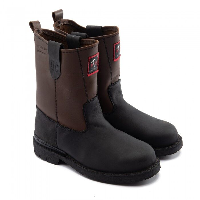Black Hammer Men Safety Shoes High Cut