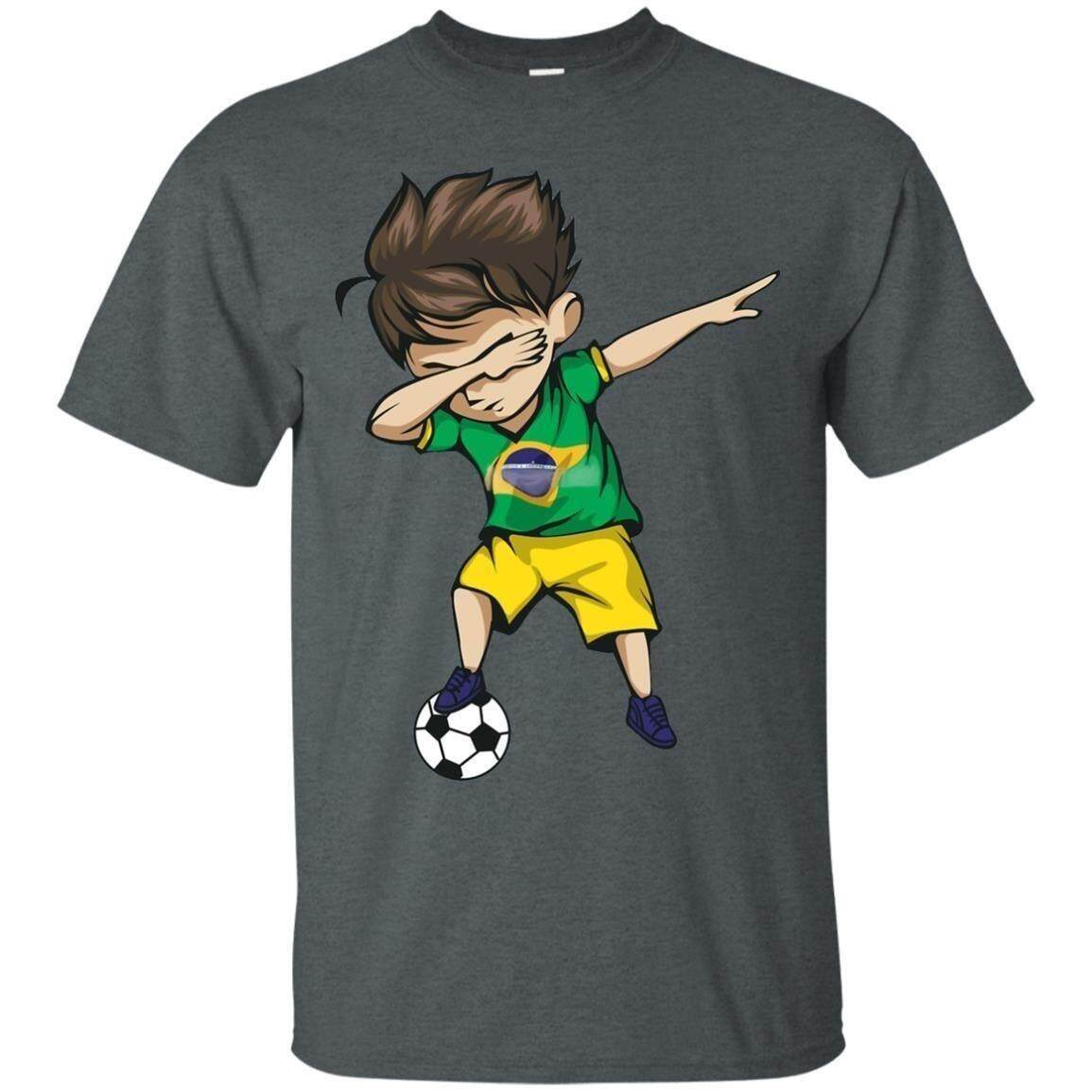 ef7e5f5b2 Details about Dabbing Soccer Boy Brazil Jersey Football Men s T-Shirt