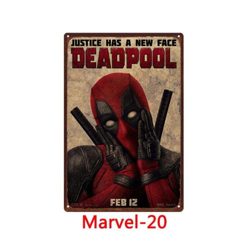 Anh Hùng Marvel Truyện Tranh Kim Loại Iron Man Đăng Retro Kim Loại Thiếc Áp Phích Bảng Hiệu Pub Mảng Bám Kim Loại Nội Thất Cổ Điển Giấy Đề-can Dán Tường Nghệ Thuật Đồ Trang Trí Quán Bar 30*20 Cm N820