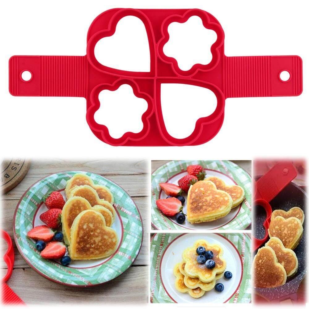 【4 Type Shape】flippin Fantastic Nonstick Silicone Pancake Maker Egg Shape Maker By Bliss Home Living.