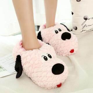 Dép đi trong nhà Kio cho Cặp Đôi Giày bông mềm mại đi trong nhà hình chó con dễ thương mùa đông thumbnail