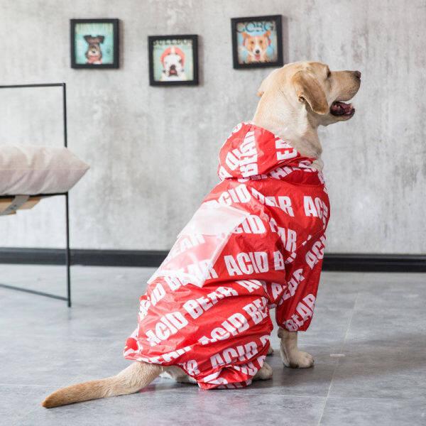 ♚✘ Chó To Mưa Quần Áo Chó Golden Retriever Chó Shiba Các Samoyeds Biên Giới Labrador Chìa Khóa Trao Tay Vật Nuôi Không Thấm Nước Vừa Chân Chó