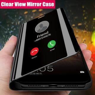 Dành Cho Samsung Galaxy A80 Ốp A70 A60 A50 A40 A30 A20 A20e A10 Ốp Thông Minh Bề Mặt Gương Sang Trọng Gương Chiếu Trong Suốt Mỏng Chân Đế Da Lật Ốp Bảo Vệ Điện Thoại thumbnail
