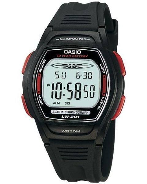 GET IT NOW! CASIO LW-201-4AV digital women and kids black resin strap watch Malaysia