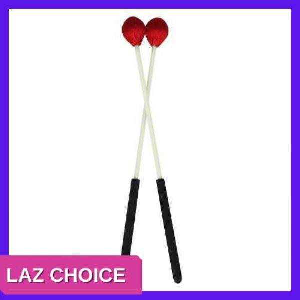 LAZ CHOICE Primary Marimba Stick Mallets Xylophone Glockensplel Mallet with Fiberglass Handle Percussion Instrument Accessories for Professionals Amateurs 1 Pair Blue (Red) Malaysia