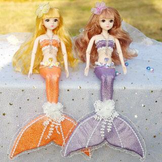 Búp Bê Barbie Đồ Chơi Trẻ Em Cho Bé Gái Handmade Công Chúa Nàng Tiên Cá Búp Bê Búp Bê Sáng Tạo Váy Cưới Trẻ Em Cô Gái Đồ Chơi Mô Phỏng Quà Tặng thumbnail
