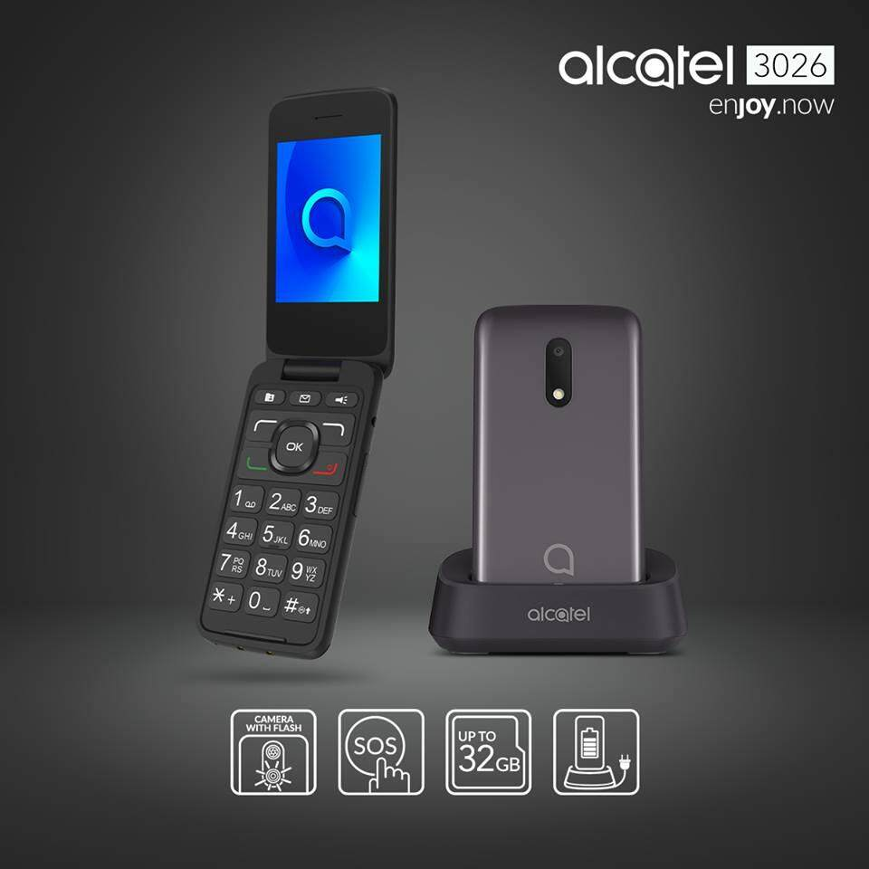 Alcatel 3026 Flip Phone for Senior Citizens Ori Malaysia Warranty