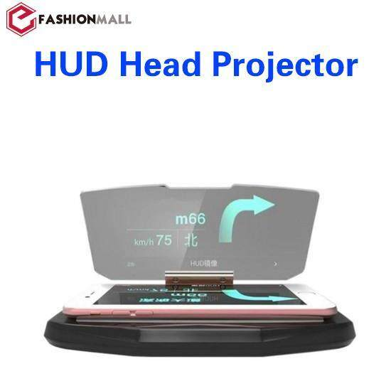 HUD Mobile GPS Navigation Bracket Head Up For Smartphones Safe Adsorption