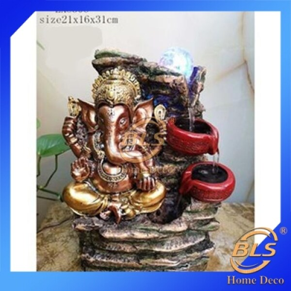 WATER FOUNTAIN GANESHA LX8306 WATER FEATURE FENG SHUI HOME DECORATION