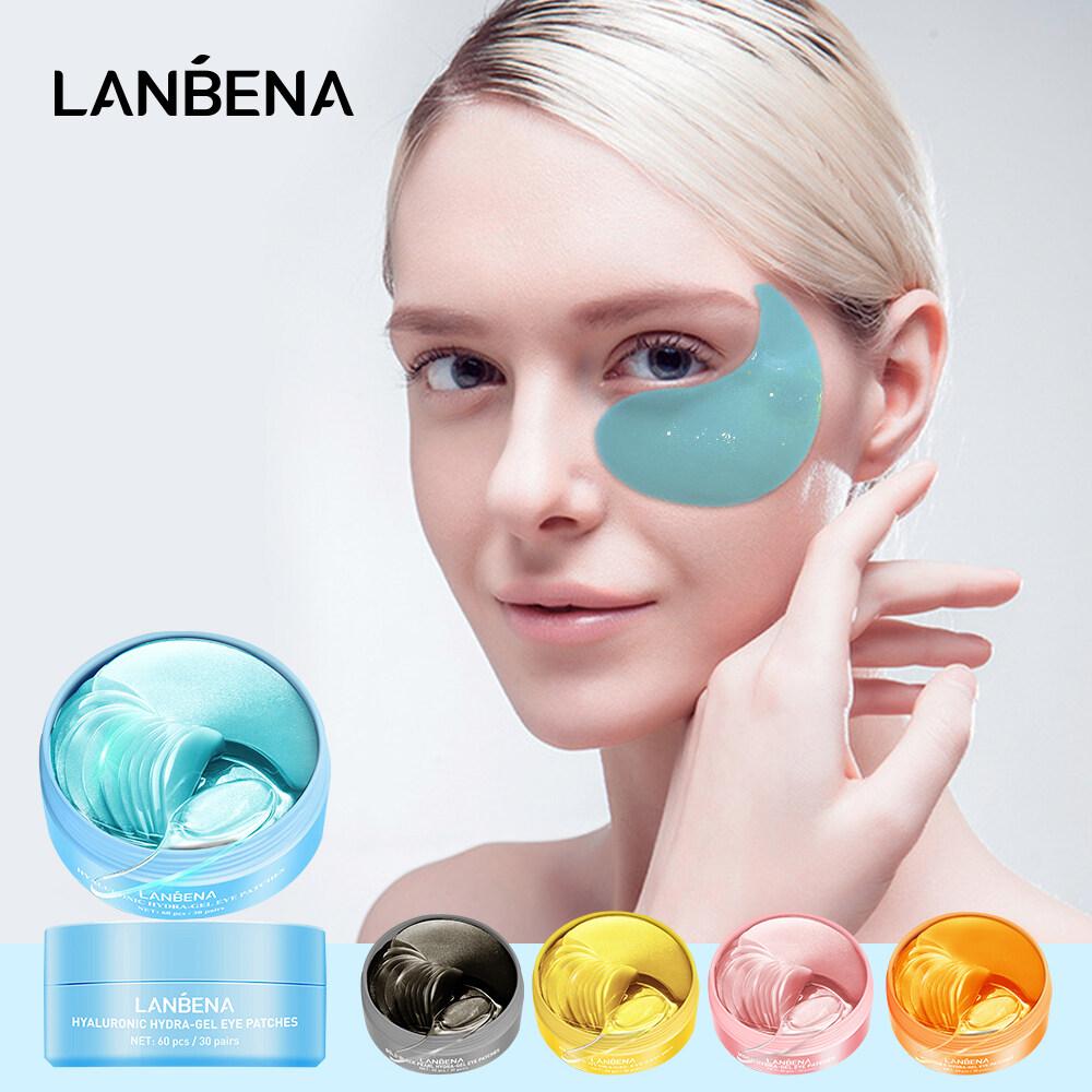 LANBENA Miếng dán mắt Collagen Dưỡng ẩm hyaluronic Vitamin C làm trắng Retinol chống lão hóa Xóa bọng mắt Loại bỏ quầng thâm Chăm sóc da 60PCS
