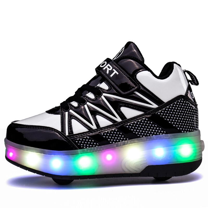 Phân phối LED Light Up Roller Shoes Wheeled Skate Sneaker Shoes for Boys Kids