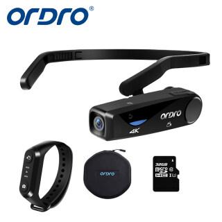 Máy Quay Phim Camera Gắn Đầu 4K Máy Quay Video Đeo Được ORDRO EP6 Máy Ghi Hình Vlog FHD 1080P 60FPS Webcam Camera WiFi Cầm Tay Trọng Lượng Nhẹ (Đi Kèm Với Thẻ Nhớ MicroSD U1 32GB) thumbnail
