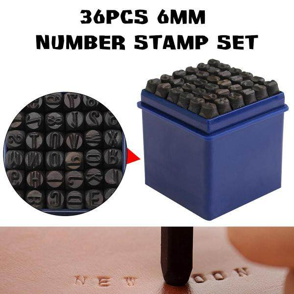 36Pcs/Set 6mm Metal Alpha Numeric Punch Letter Number Stamp Press Marker Set Kit