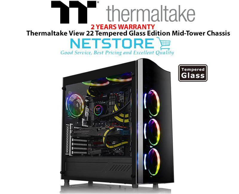 Thermaltake View 22 Tempered Glass TG Edition Mid-Tower Chassis - CA-1J3-00M1WN-00 Malaysia