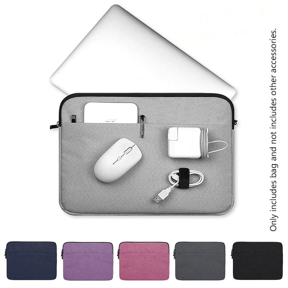แล็ปท็อปที่ครอบคลุมกรณีกระเป๋าแขนโน๊ตบุ๊คกระเป๋ามัลติฟังก์ชั่สำหรับ Macbook Air Pro Lenovo Hp Dell อัสซุส 11 13 14 15.4 15.6 นิ้ว.