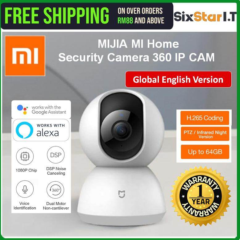 [GLOBAL VERSION] XiaoMi MIJIA MI Home Security Camera 360 IP CAM CCTV 1080P  Night Vision Wifi Security Cameras DOME PTZ (English SET)