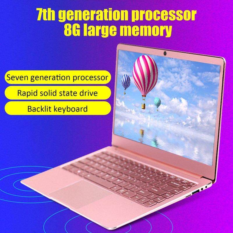 [Original brand new+Free shipping] 13.3 laptop A13 J3455 8+64G/128G/256G/512G IPS HD screen gaming notebook computer Ultraslim laptop large battery Rose Gold + US plug + 8+64G