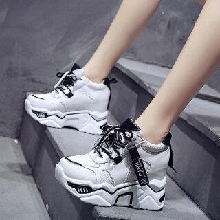 Giày thể thao đế xuồng giúp nâng chiều cao 10cm 3.9 inch có thể mang thường ngày dành cho phái nữ - INTL thumbnail