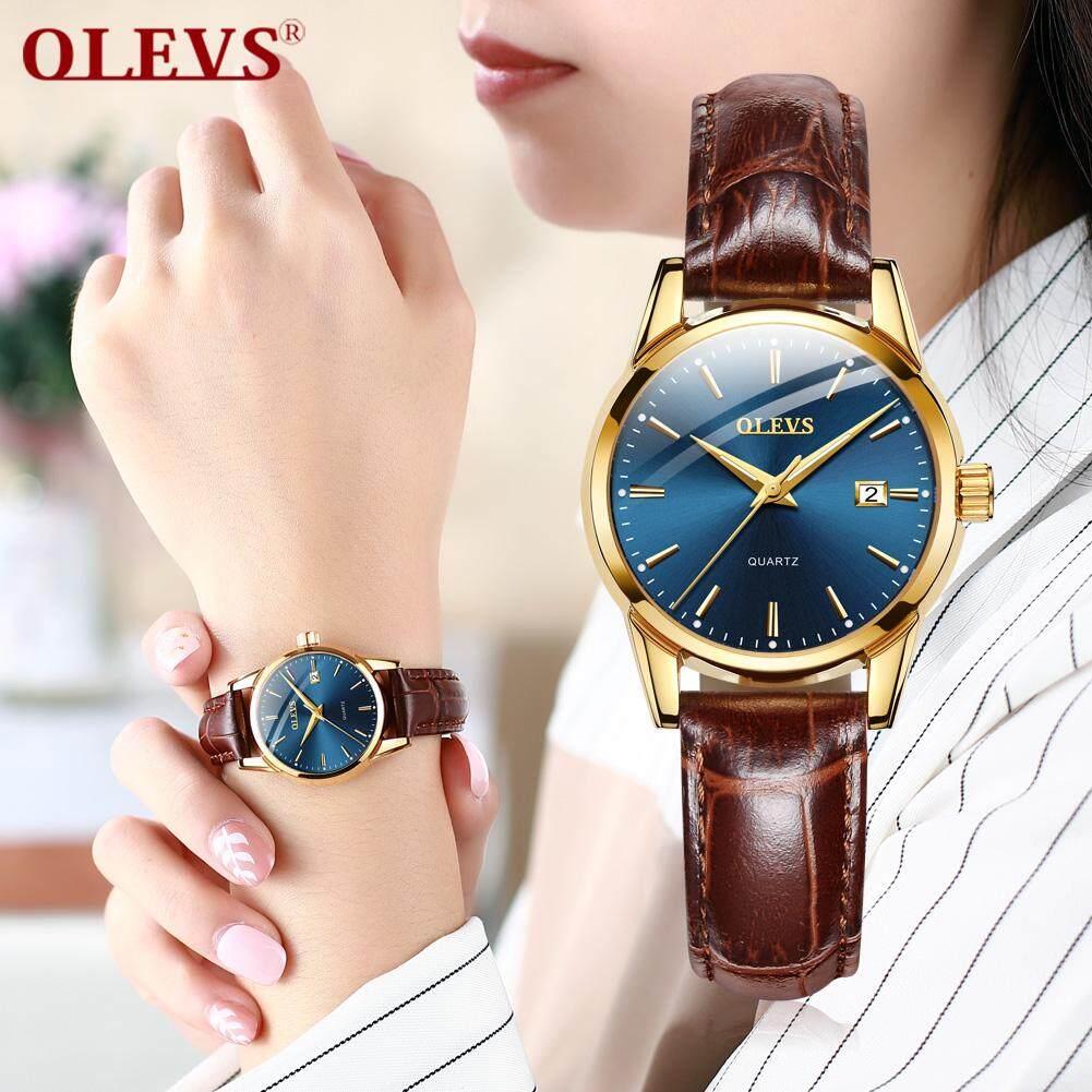 OLEVS Womens watches Original authentic watch for women Fashion trend Double calendar waterproof jam tangan wanita Malaysia