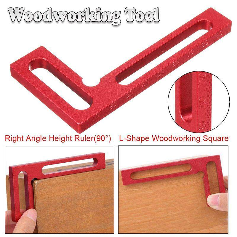 Moyaa Precision Woodworking Tools 100mm Woodpeckers L-Squre Mini Clamping Squares Aluminum Measurement Tool