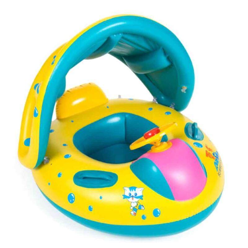 XJING PVC Baby Inflatable Sitting swimming circles Summer Swimming Rings Sunshade Baby Seat Floating Rings Water Toys Singapore