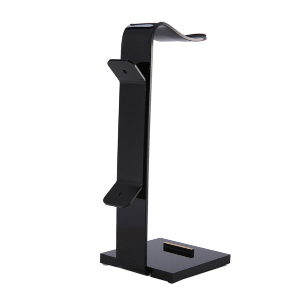 niceEshop Headphone desktop stand Headset hanger Headphones cord storage rack Ergonomic Design Easy Installation ABS Black Singapore