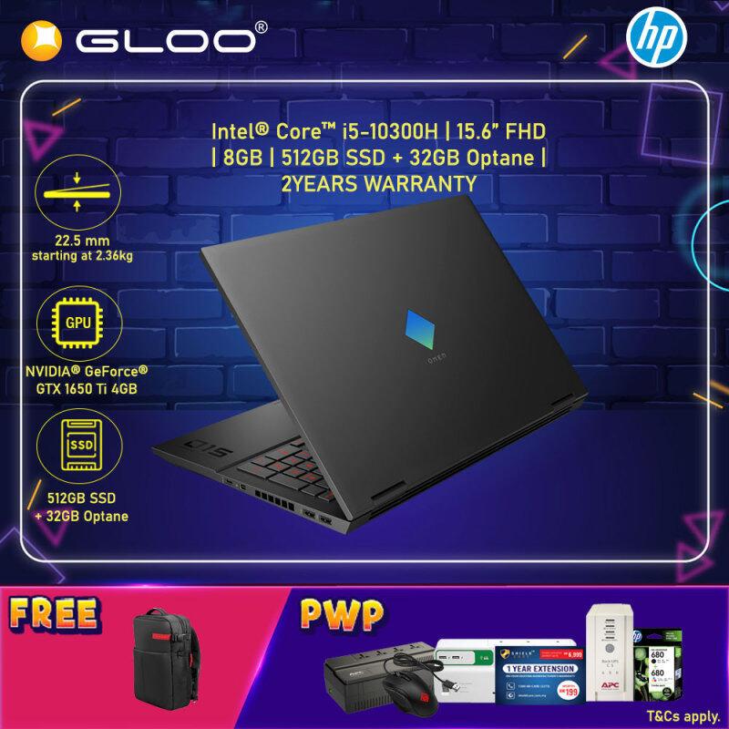 NEW HP Omen Gaming Laptop 15-ek0109TX 15.6 FHD (i5-10300H, 512GB SSD+32GB Optane, 8GB, NVIDIA GTX 1650 Ti 4GB, W10H) - Black [FREE] HP Omen Backpack (Grab/Touch & Go credit redemption : 1/5-31/7*) Malaysia