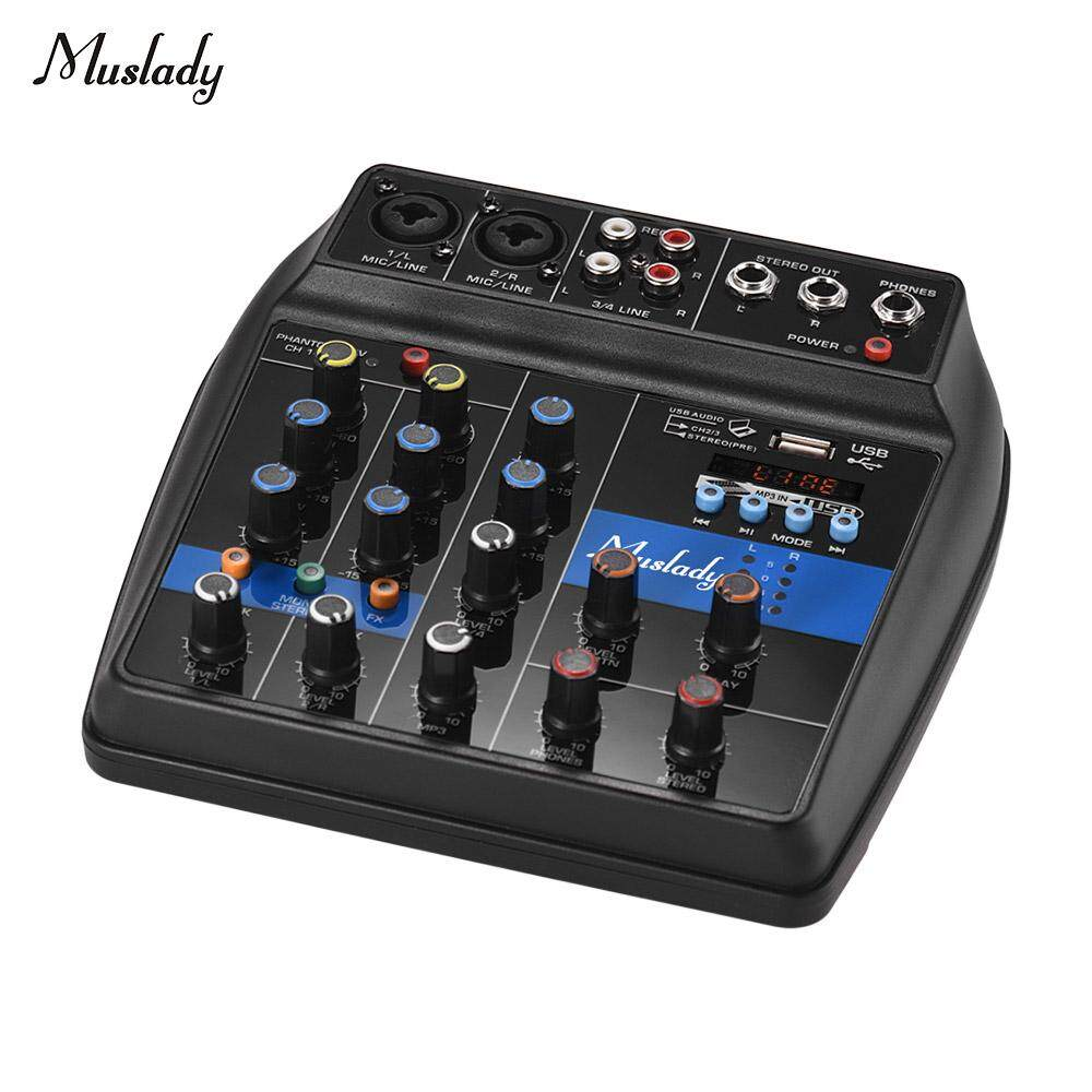 New High Quality Muslady S-1 Portable 4-Channel Bt Mixing Console Digital Audio Mixer Network Live Broadcast Eu Plug (hot) By Tomnet.