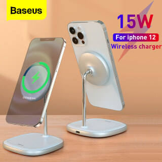 Đế sạc không dây để bàn từ tính Baseus 15W cho iPhone 12 Pro Max Mini Kiêm Giá đỡ điện thoại có thể điều chỉnh để bàn thumbnail