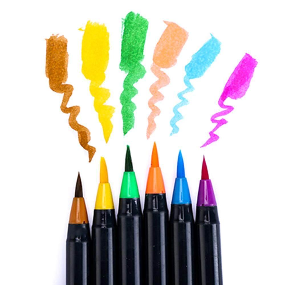 Mua H & B 20 Màu Sắc Màu Nước Bộ Bút Cọ Nghệ Thuật Đánh Dấu Hình Tranh Vẽ Bàn Chải Mềm Bút Tô Màu Manga Phác Thảo thư Pháp