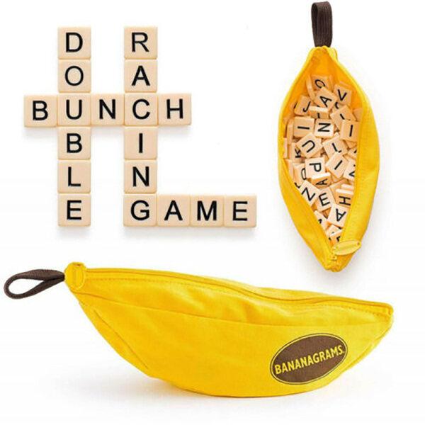 Banana Scrabble Crossword Game Portable Crossword Spelling Tile Word Game Party Family Game Singapore