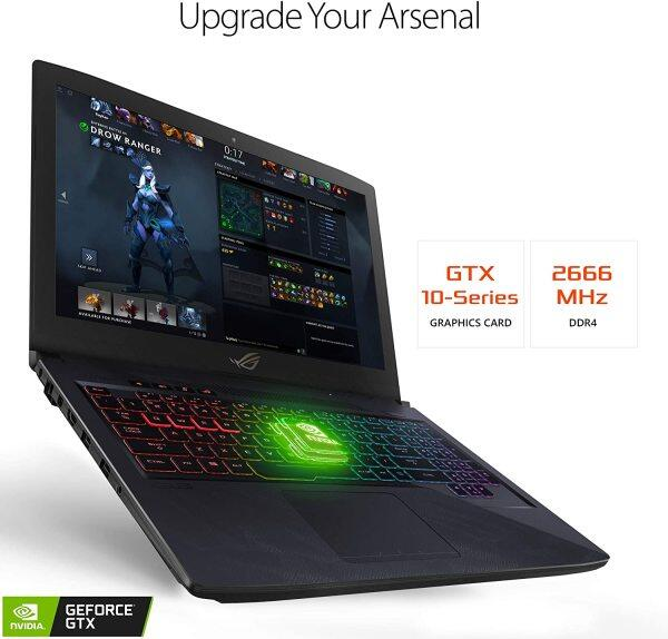 "ASUS ROG Strix Hero Edition Gaming Laptop, 15.6"" FHD 120Hz 3M, 8th-Gen Intel Core i7-8750H Processor, GeForce GTX 1050 Ti 4GB, 16GB DDR4, 128GB PCIe SSD + 1TB FireCuda SSHD, Windows 10 Malaysia"