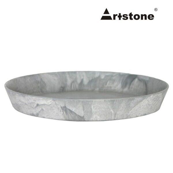 Artstone Decorative Flower Pot Saucer / Piring Pasu Bunga Hiasan / Indoor and Outdoor / Lightweight / Modern Marble Stone Look / Claire Round Saucer D26 H4 x 2 Pcs