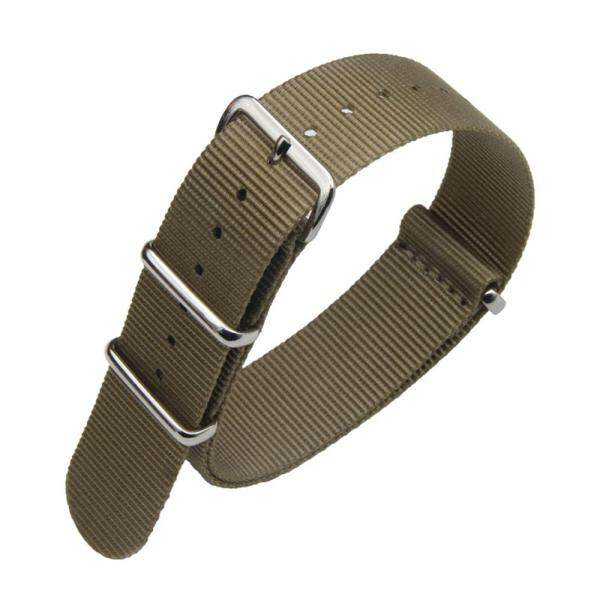 Premium NATO Strap 18mm 20mm 22mm 24mm Nylon Replacement Watch Band for Men Women Khaki Malaysia