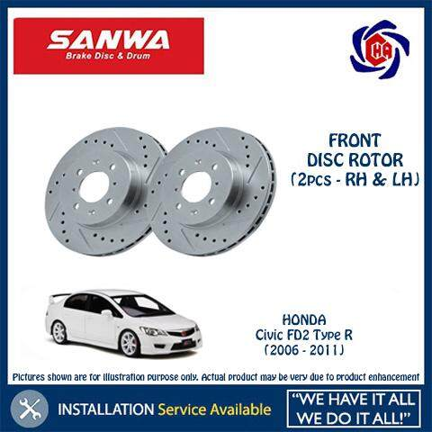 Front Disc Brake Rotors Drums Left /& Right Pair For 2006-2011 Kia Rio5 x2