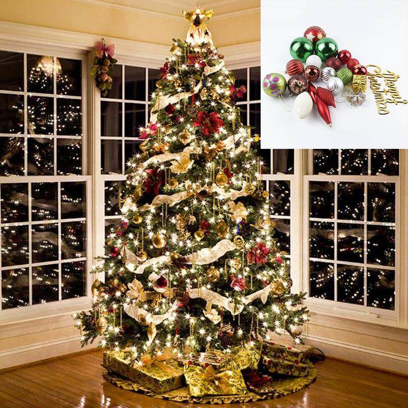 1 Set Christmas Tree Ornament Baubles Merry Xmas Home Party Hanging Decoration