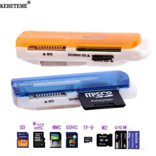 KEBETEME Đầu Đọc Thẻ Nhớ USB 2.0 Tất Cả Trong 1 Hỗ Trợ MMC Mini TF RS-MMC MS, Cho Win XP 7 8 Vista thumbnail