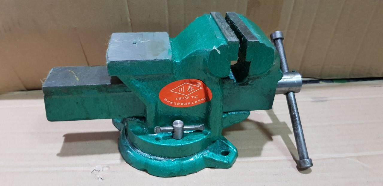 75MM X 5.5KG  SWIVEL BENCH VICE WITH SQUARE ANVIL-3