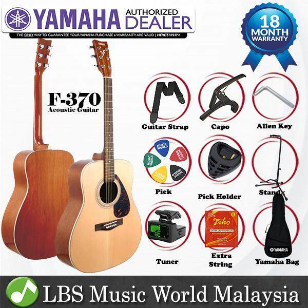 Yamaha F370 Natural Wood Full Size Acoustic Guitar (F-370 / F 370) Malaysia