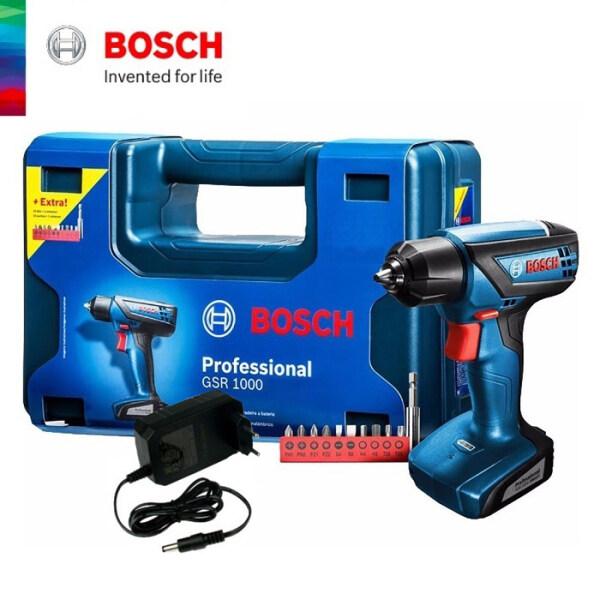 BOSCH Professional GSR 1000 Cordless Drill Driver + Extra Screwdriver Bits Set - 06019F40L1