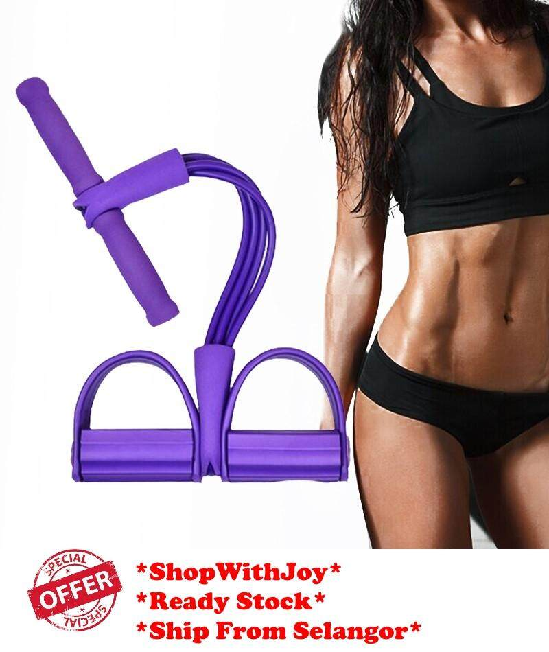【msia Stock 4 Rope】 Gym Fitness Yoga Sit-Up Equipment Pull Up Rope Elastic Band By Shopwithjoy.