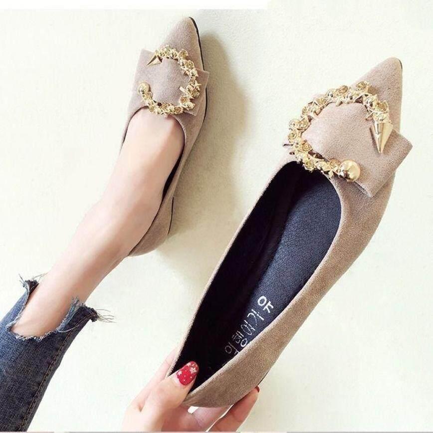 Giày Đơn Nữ 2020 Mùa Hè Mới Tất Cả Phù Hợp Miệng Nông Mũi Nhọn Giày Bệt Nữ Đế Mềm Lười Một Bàn Đạp Giày Nữ giá rẻ