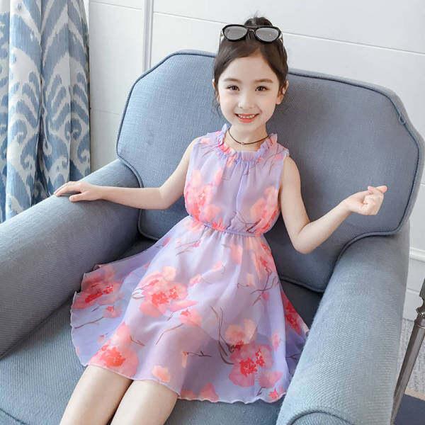 Giá bán Forher FORHIM Bé Gái Quần Áo Váy Mùa Hè Áo Đầm Trung Niên Tay Công Chúa Váy Voan Trẻ Em Tám Mươi Hay Chín Mươi Năm tuổi Ngoại Hoa Phong Cách Váy Miễn Phí Vận Chuyển KE200049