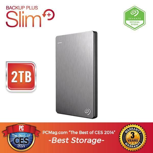 a3e7c40d429 Seagate Backup Plus Slim 2TB Portable Drive (STDR2000301) - Silver