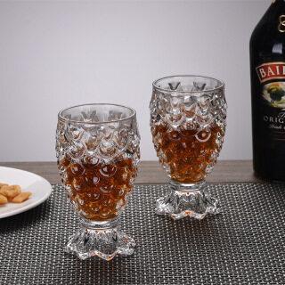 Cốc Thủy Tinh PLKON, Nàng Tiên Cá Dứa Cup Thủy Tinh Đồ Uống Trà Cà Phê Nước Ép Bia Rượu Ly, Quà Giáng Sinh thumbnail