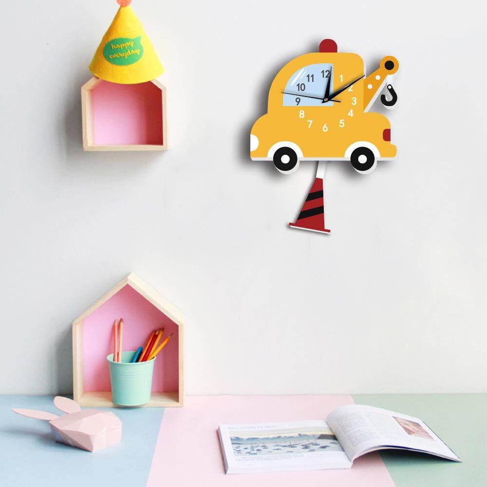 3D Cartoon Wall Clock Silent Clocks For Children Living Room Home Decor