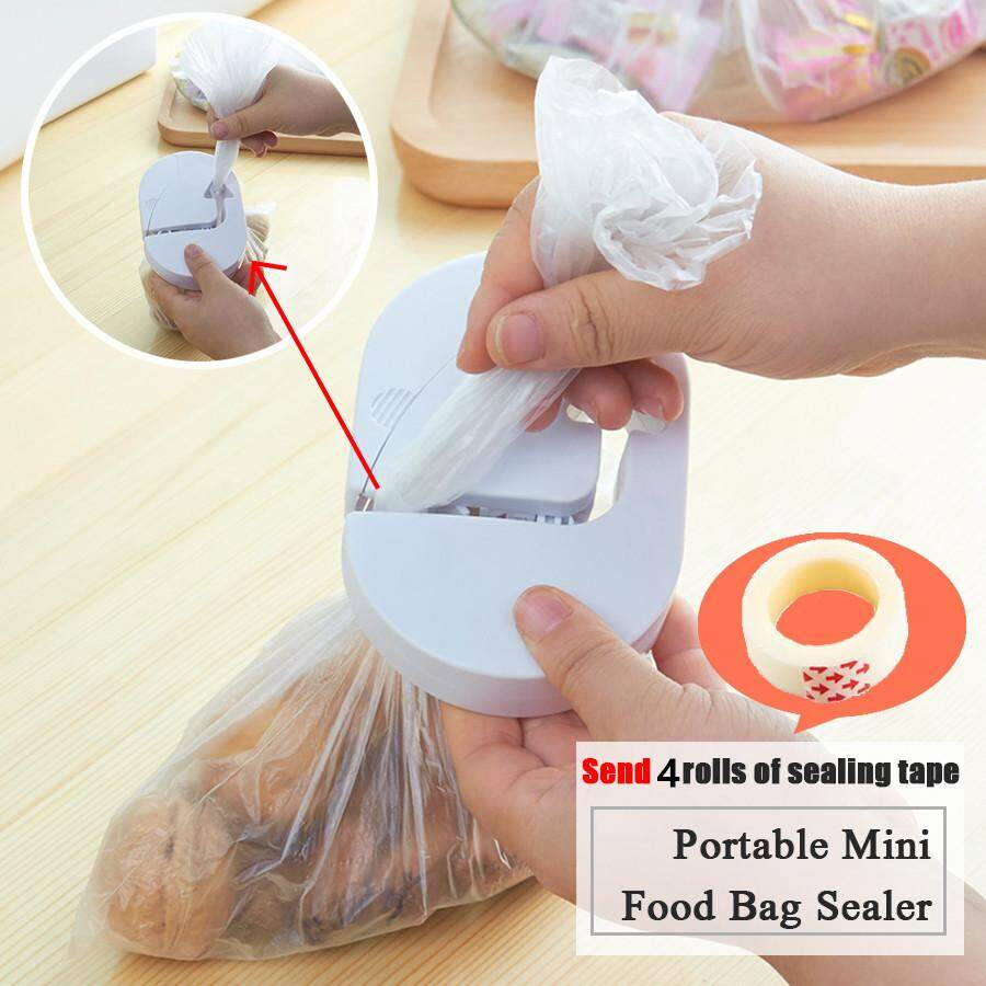Japanese Portable Food Bag Sealer Mini Hand Chips & Snack Sealing Machine Travel Picnic W/4tape By East Ear Living House.