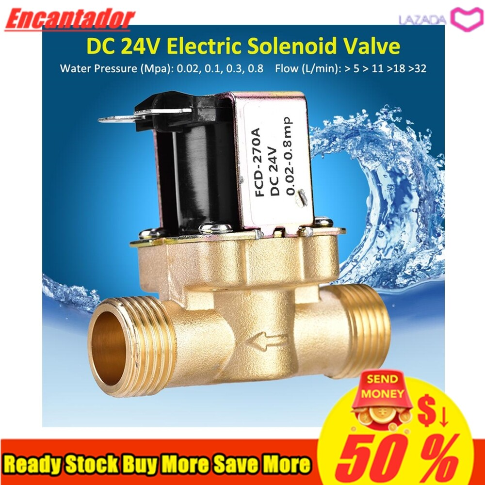 Anti-corrosion and Durable 1//2 AC 220V Normally Closed Brass Electric Solenoid Magnetic Valve for Water Control Water Valve