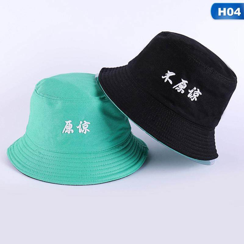 f81315a31 Eounthbard Cotton TWO SIDED letter Bucket Hat Fisherman Hat outdoor travel  hat Sun Cap Hats for